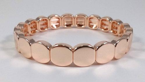 Bracelet élastique Spoutnik, carré arrondi, pièce métal or rose