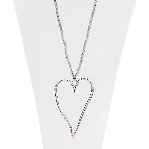 Collier long Caracol Coeur Argenté #1404-SLV