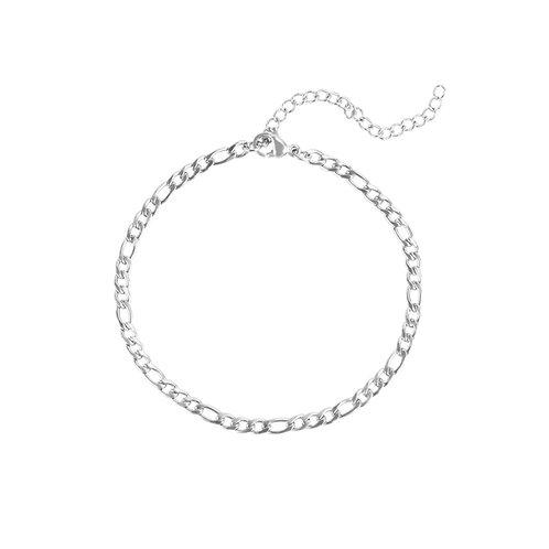 Bracelet Mia Figaro, Acier inoxydable, Argent