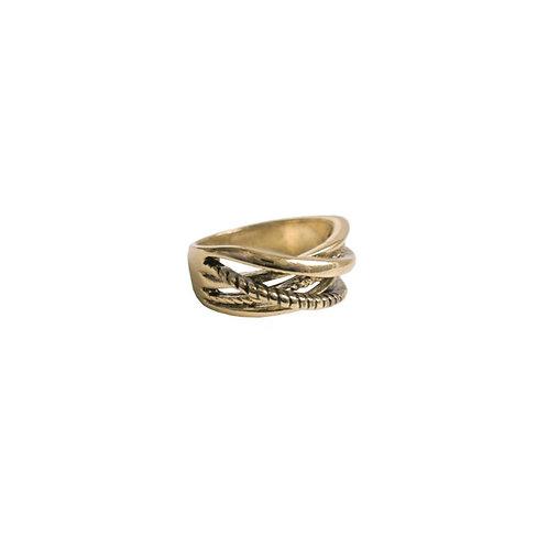 Bague Caracol, Multi-rang, Or antique, 4138-GLD