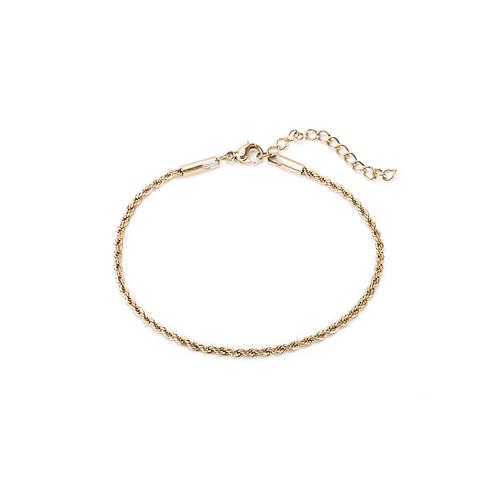 Bracelet Mia chaîne torsadée, Acier inoxydable, Or