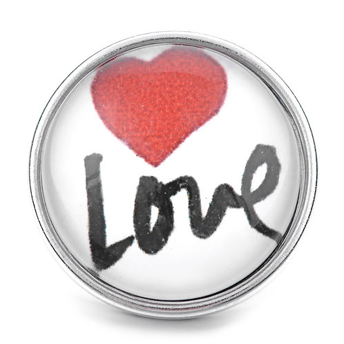 Bouton pression (snap) Nomaad Interchangeable, Coeur rouge ''Love''
