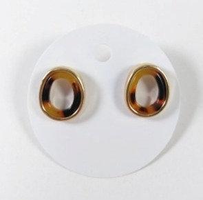 Boucles d'oreille Spounik: Ovale, Léopard ajouré, contour or