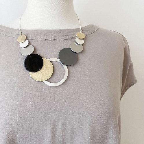 Collier Caracol, Pastilles métalliques, Mix-Or, 1398-MXG