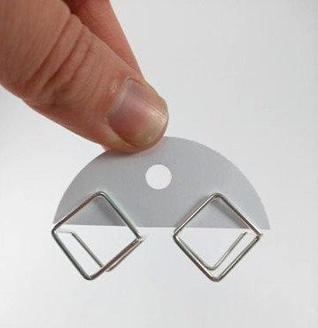 Boucles d'oreille Spoutnik: cube argent