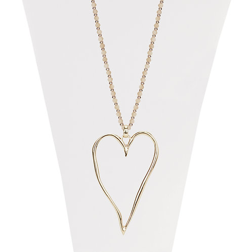 Collier long Caracol Coeur Or jaune #1404-GLD