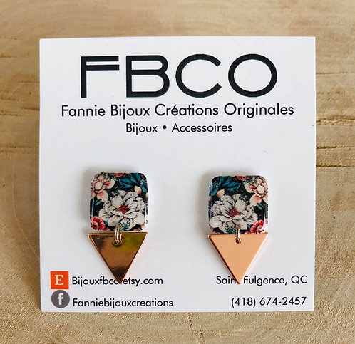 Boucles d'oreille FBCO ''Lustra'' Motif de fleur coloré