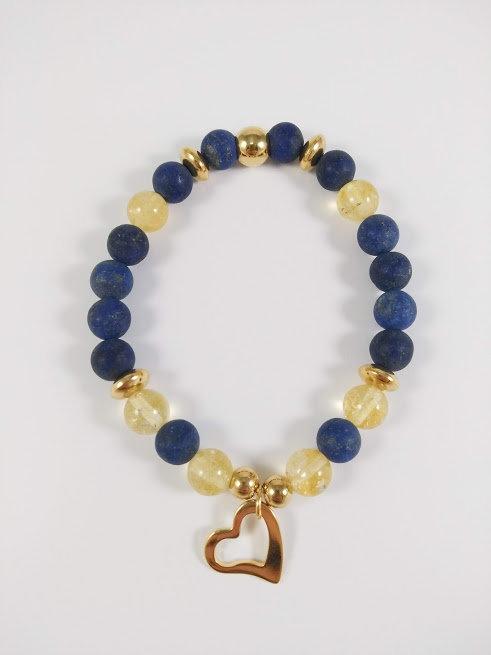Bracelet #6 Lapis lazuli et Citrine