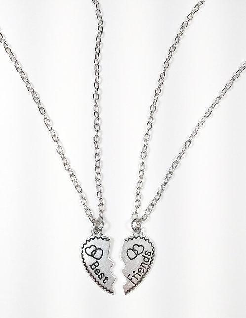 2 colliers pour enfants Best friend : Coeur