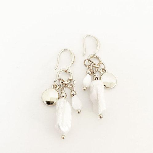 Boucles d'oreille Caracol, Perle, Argent, 2395-SLV