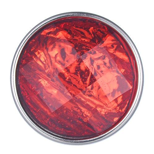Bouton pression (snap) Nomaad Interchangeable, Cristal facetté, Rouge