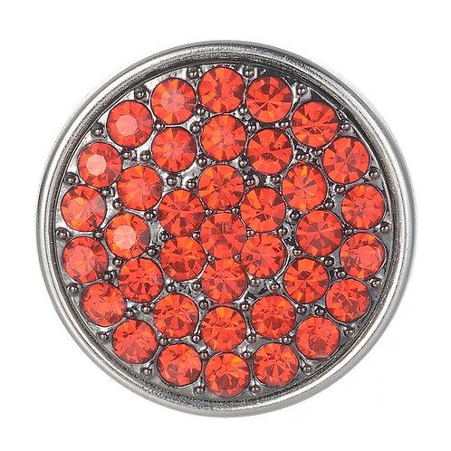 Bouton pression (snap) Nomaad Interchangeable, Pavé cristaux rouge