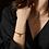 Thumbnail: Bracelet Mia charm, Acier inoxydable, Argent