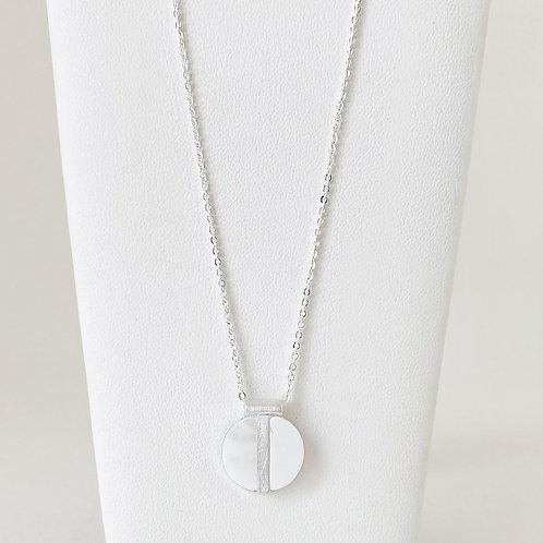 Collier court Caracol, Nacre de perle, Argent, 1407-WTE-S