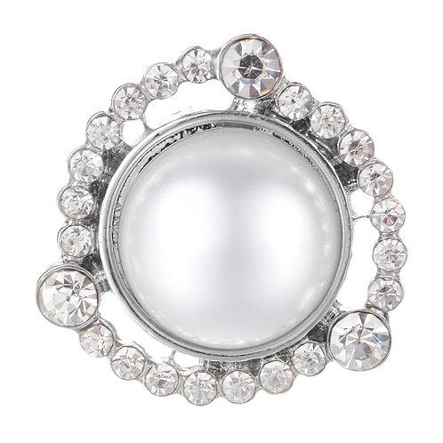 Bouton pression (snap) Nomaad Interchangeable, Grosse perle avec contour cristal