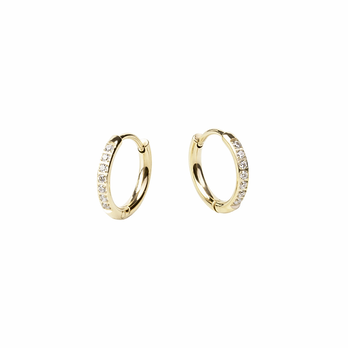 Boucles d'oreilles Mia, Dormeuse chic ''Stacks'', Acier inoxydable, Or