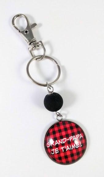 Porte-clés ''Grand-papa, je t'aime'' (#16)