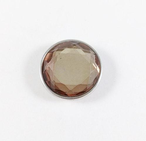 Bouton pression (snap) Nomaad Interchangeable, Cristal facetté, bronze