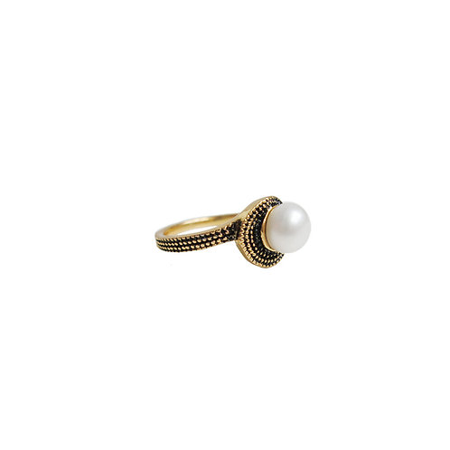 Bague Caracol, Perle blanche, Or, 4131-GLD