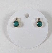 Boucles d'oreille Spounik: Cristal turquoise, or