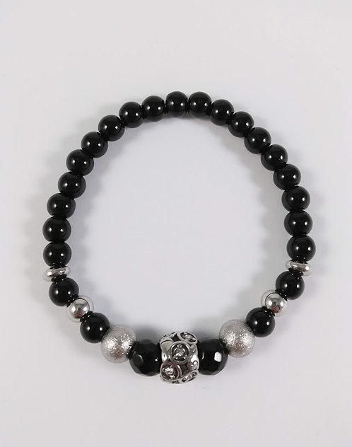 Bracelet #11 Onyx noir