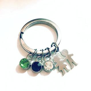Porte-clés famille