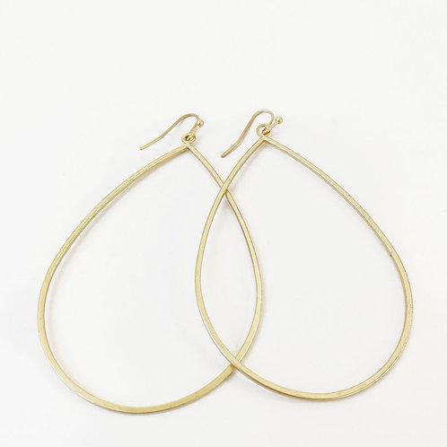 Boucles d'oreille Caracol, Grosse goutte de métal, Or, 2436-GLD