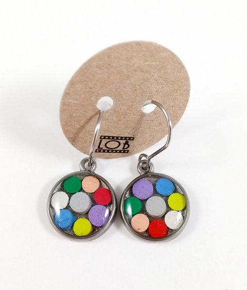 Boucles d'oreille LOB-crayons recyclés (Multicolore #1)