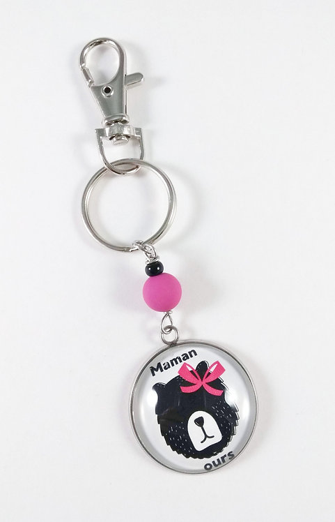 Porte-clés ''Maman ours''