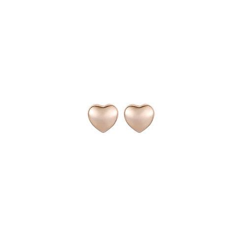 Boucles d'oreille Caracol, Coeur, Or rose, 2321-RGD