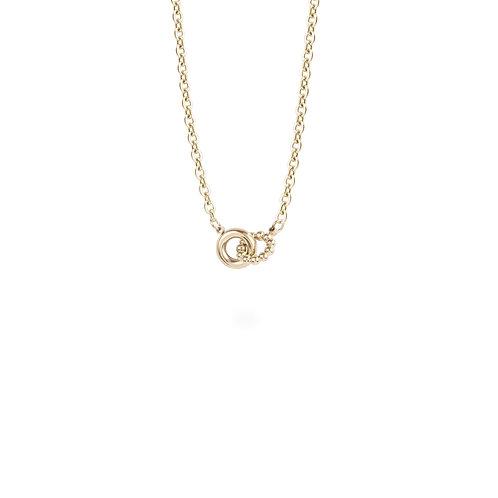 Pendentif Mia anneaux billes, Acier inoxydable, Or