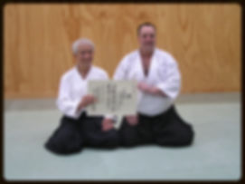 Presentation of Nidan Certificate
