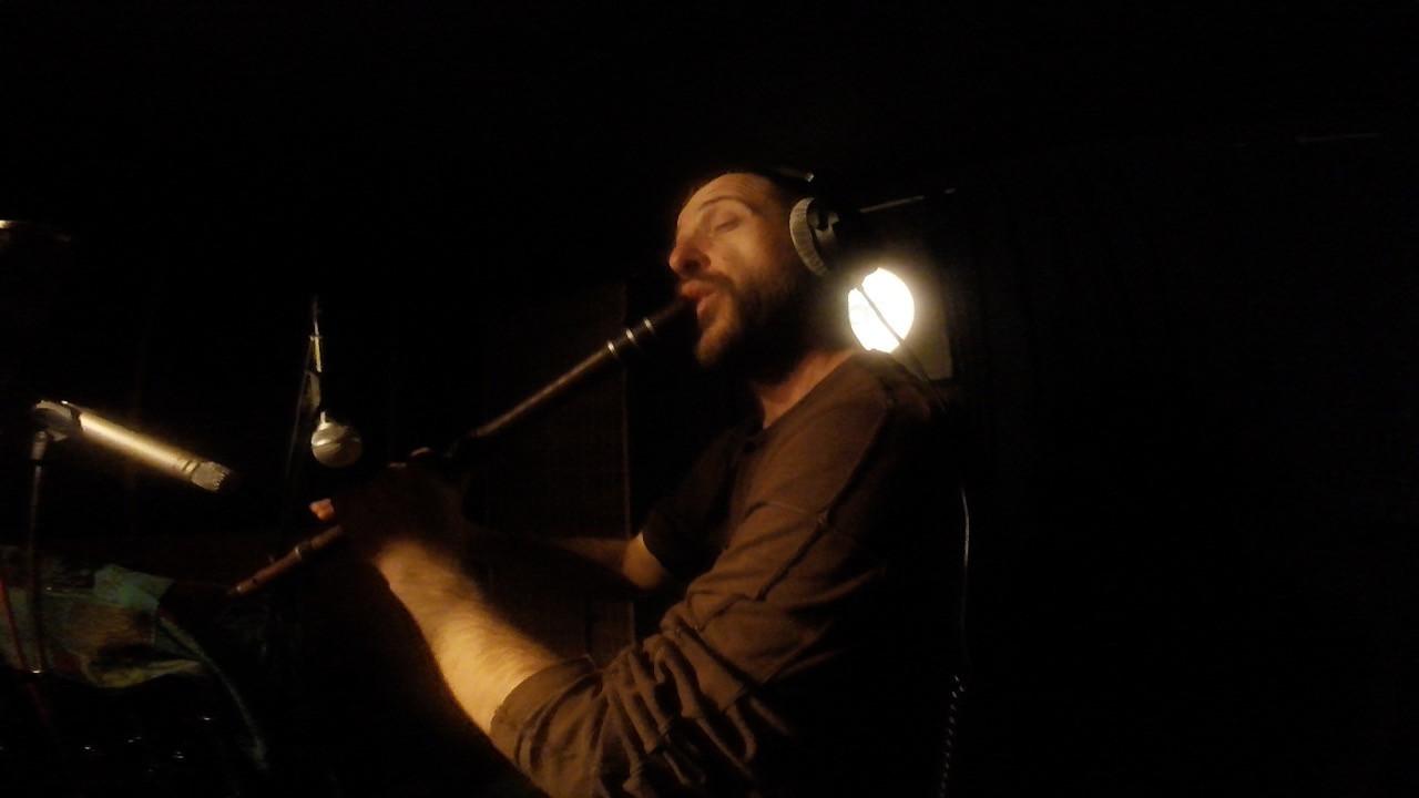 Pantelis Stoikos recording kaval for Terra Mono's new song -Welcome to Babylon-