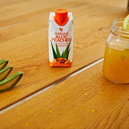 Aloe Peaches 330ml.