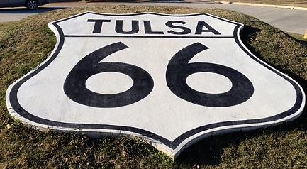 Tulsa 66 shield, route 66 shield