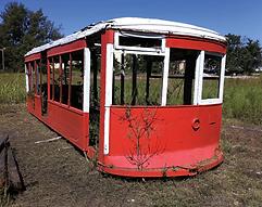 Vintage Tulsa Railway trolley car restoration