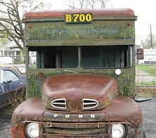 vintage 1949 Railway Express Transportation Truck