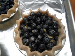 Preparing Blueberry Pie