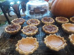 Small Sweet Potato & Pecan Pies