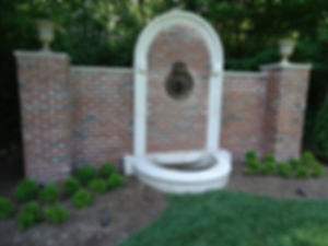 Brick & Stone Fountain Wall