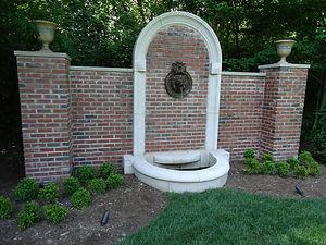 Brick & Stone Fountain Wall