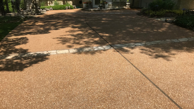 Torpedo Stone Exposed Aggregate Driveway