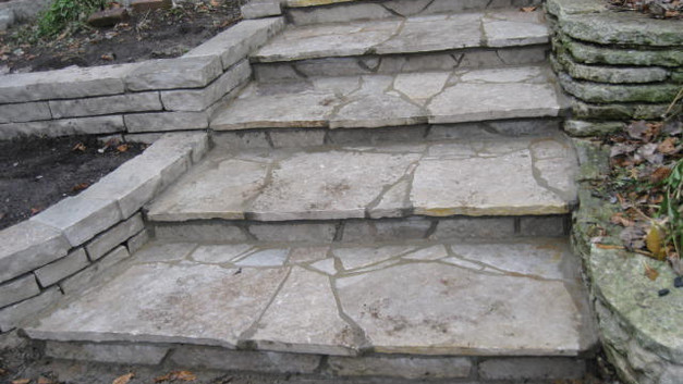 Stone Steps with Walls