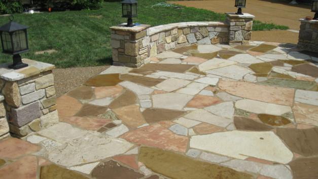 Stone Patio & Seat Wall