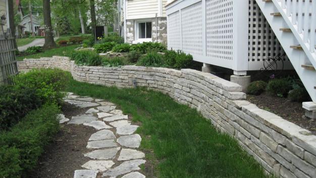 Fond du lac Stone Stepper Walkway & Wall