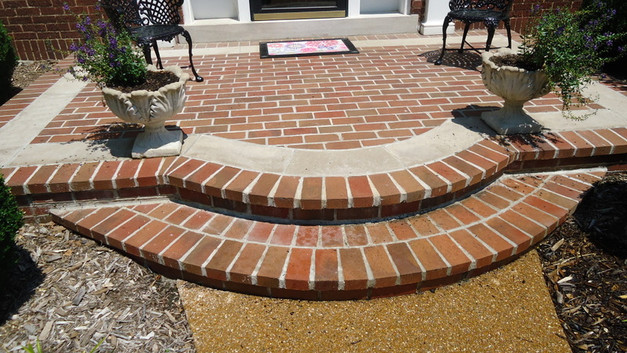 Brick & Stone Front Porch Landing & Step