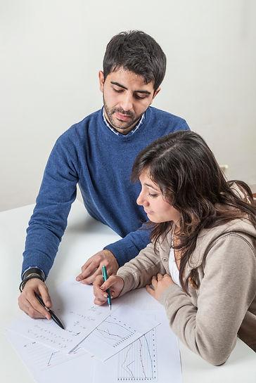 Tutor and student study graph