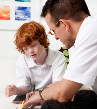 Reading tutor and student