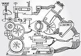 Maschine Skizze