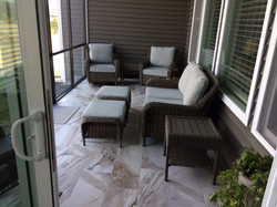 Rear porch finished